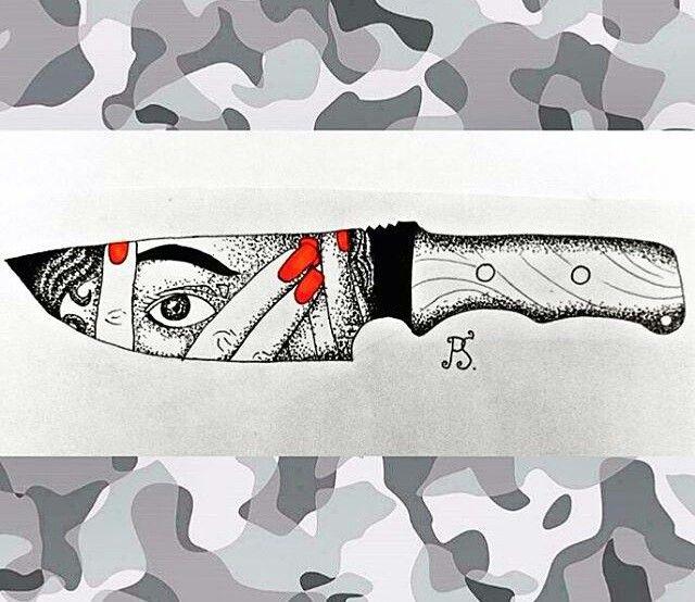#тату #татуировка #татуэскиз #эскиз #графика #дотворк #девушка #страх #нож #чернуха #чб #tattoo #tattoosketch #sketch #graphic #dotwork #girl #fear #knife #bw #iblackwork