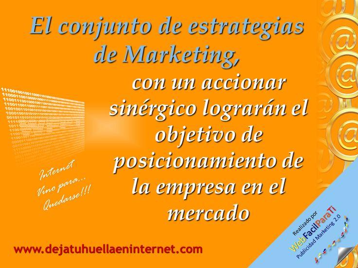 Aunque el marketing por internet, apoye el  posicionamiento de la empresa, es importante anotar que solo se logrará basado en lo que la empresa hace y no solo en lo que dice que puede hacer