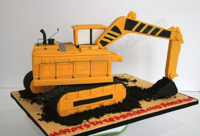 17 best ideas about excavator cake on pinterest for Digger cake template