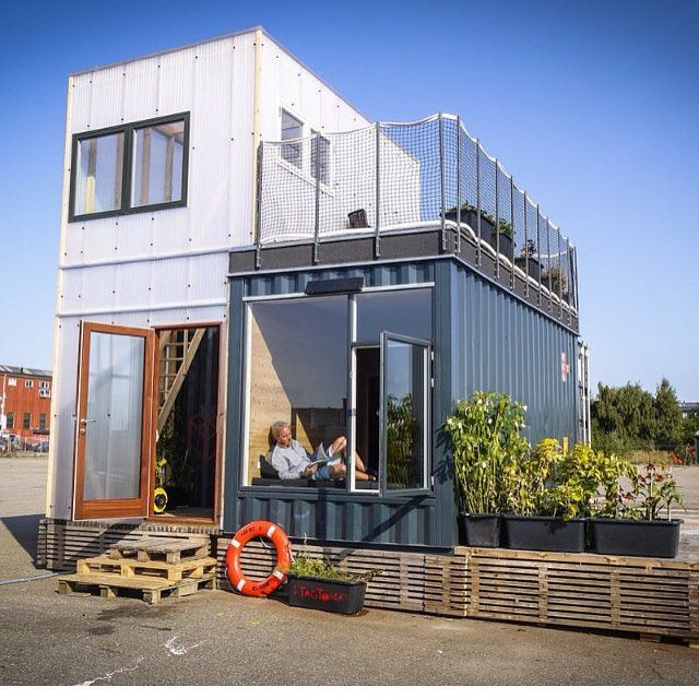 It's amazing some of the houses people are building out of recycled shipping containers #upcycle