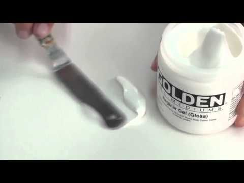 How to use Golden Gels Molding Pastes and Matte Medium - YouTube