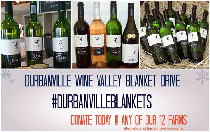 Spend some time with us this weekend and enjoy stunning wines in a beautiful setting - Remember to bring in blankets & tinned food if you wish to donate to the #DurbanvilleBlankets drive.