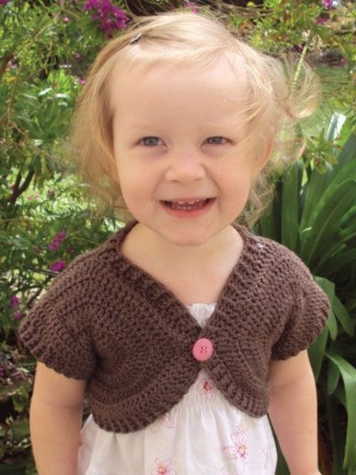 Crochet - Patterns for Children & Babies - Sweater Patterns - Shortie Sweater