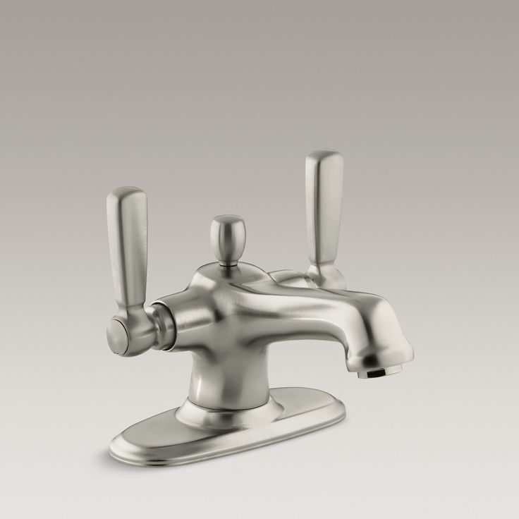 Art Exhibition Barber Wilson us Deck Mounted Faucet with Gooseneck Spout and Off Set Legs
