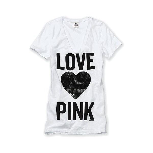 Victoria'S Secret Bling Favorite V-Neck Tee http://stores.ebay.com/VSPINK-STORE