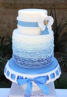 Mooi als je blauw als thema hebt op je bruiloft!