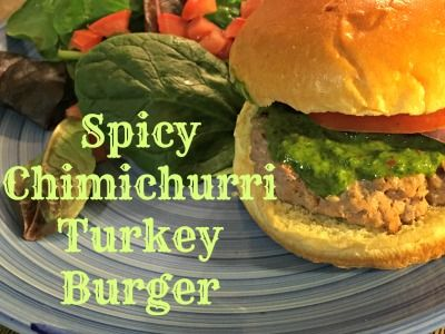 I've been experimenting with new ways to add more protein to our diet. This Spicy Chimichurri Turkey Burger was just the thing! Perfect for an easy weekday meal with the kids and healthy | Nurture Her Nature