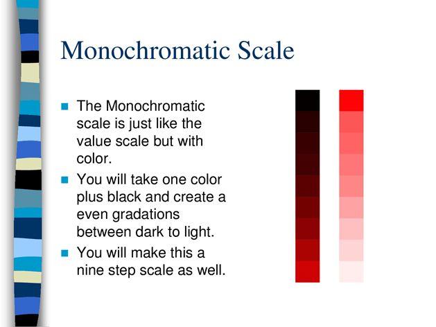 Value Scale _ Monochromatic Scale