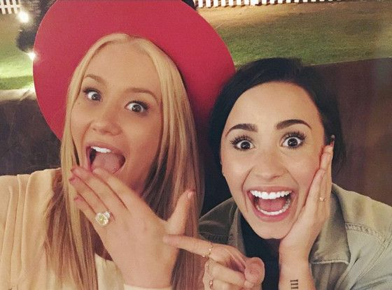 Demi Lovato ''So Happy'' for Iggy Azalea's Engagement to Nick Young! See Their Cute Celebration Pic