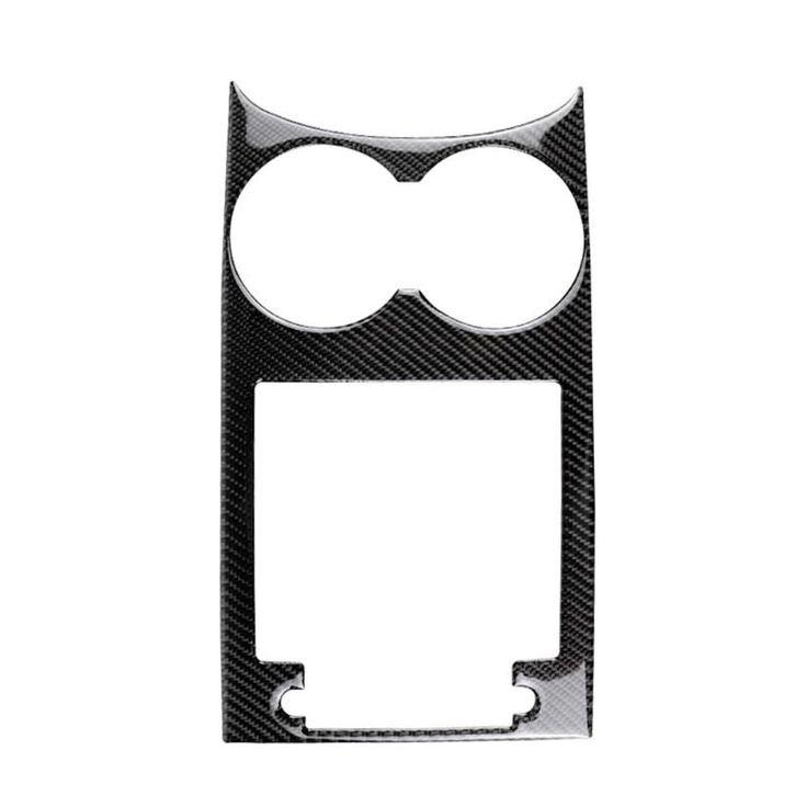 Carbon Fiber Car Cup Holder Decorative Frame Cover Trim Interior Sticker Decal f…