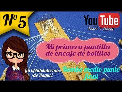 015 Rombo punto de Lienzo - Curso Completo Encaje de Bolillos Raquel M. Adsuar Bolillotuber - YouTube