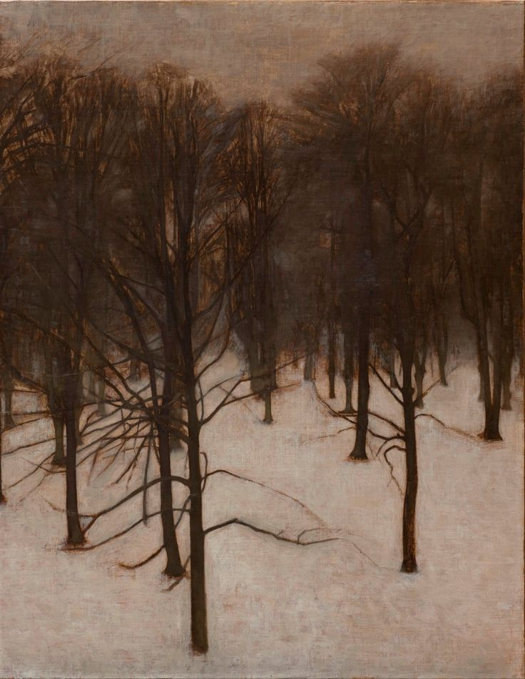 Vilhelm Hammershøi (Danish, 1864-1916) Søndermarken Park in Winter, 1895-96 Oil on canvas Den Hirschprungske Samling, Copenhagen