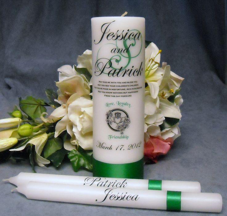 Irish Theme Personalized Unity Candle
