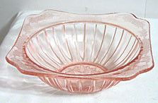Depression Glass - Jeannette - Adam - Pink Bowl 9""