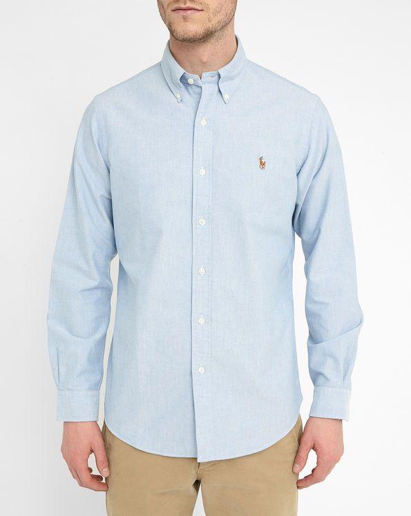 Himmelblaues Hemd Oxford Custom Fit POLO Ralph Lauren
