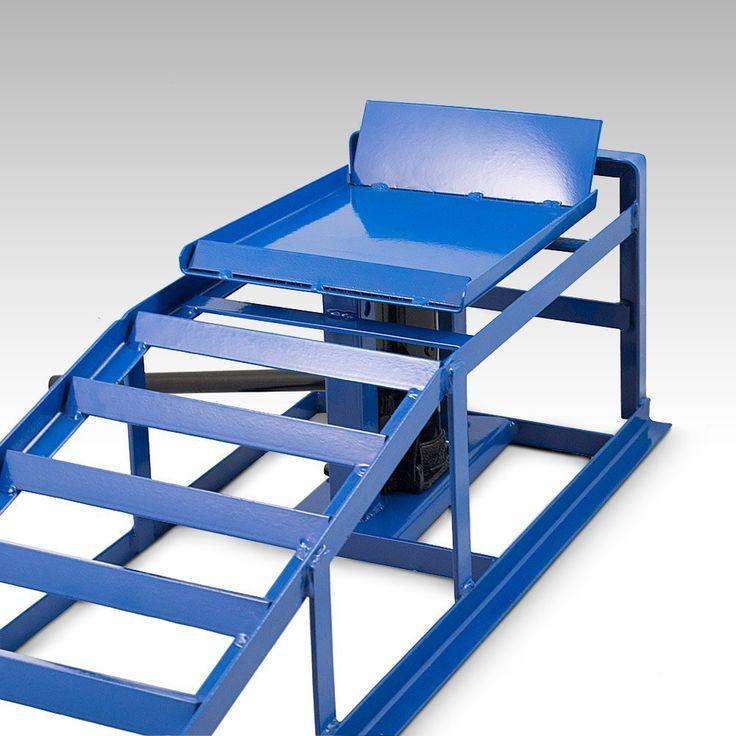 BITUXX® 2 Stück Auto PKW KFZ Auffahrrampen mit Wagenheber Höhenverstellbar Wartungsrampe Hebebühne Rampe