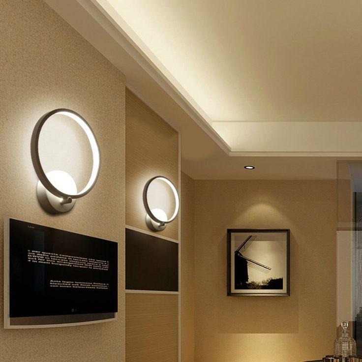 Lightess Wall Sconce Lighting Fixture LED Wall Lights Modern Wall Lamp Warm White 12w: Amazon.ca: Tools & Home Improvement