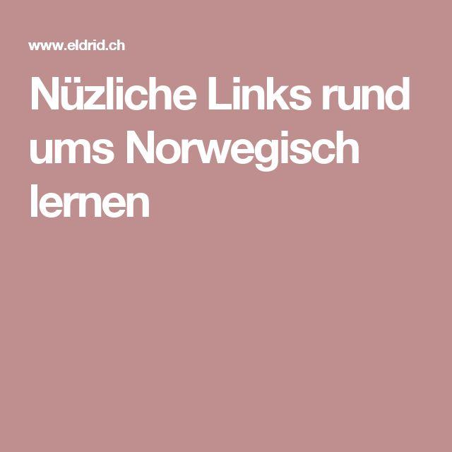 Nüzliche Links rund ums Norwegisch lernen