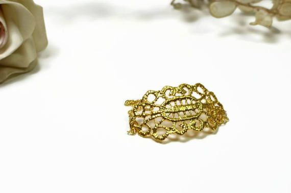 Gold filigree bracelet Elegant chain bracelet vintage by MyElesi