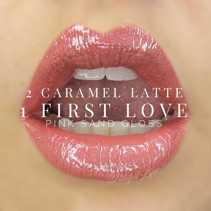 2 Caramel Latte 1 First Love LipSense; Distributor #416610