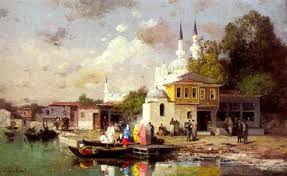 Embarcation sur le Bosphore / قارب على البوسفور / by Fabius Brest 1823 - 1900