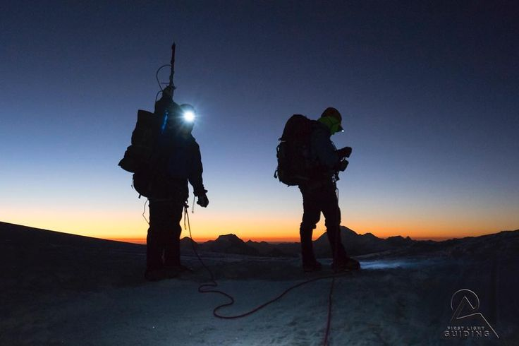 Reaching Alpamayo Col for a beautiful sunset. By the time climbers reach this point the only thing that remains is the final 500m steep face climb to the summit.  Come and make your own adventure in Peru in June/ July 2018.  #FirstLightGuiding #Expedition #Mountaineering #WeAreRab #TheMountainPeople #expeditionlife #peru #iloveperu @outfitters_newmarket @lowe.alpine @rab.equipment #alpamayo #ishinca #peru2017 @peruenunatoma @peru