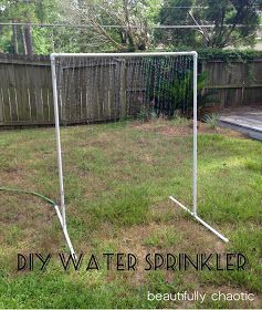 Beautifully Chaotic: DIY PVC Water Sprinkler