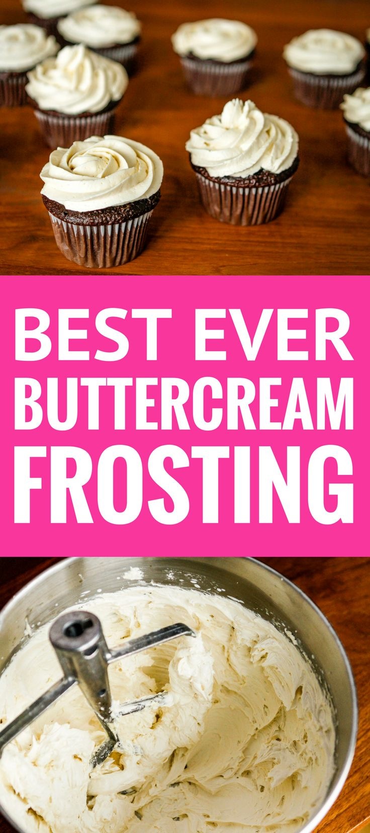 Best Buttercream Frosting Recipe -- Pinned over 100,000 times! Super creamy and fluffy, not too sweet, this is quite possibly the BEST buttercream frosting recipe ever... A must try! | vanilla buttercream frosting | homemade buttercream frosting | whipped cream frosting recipe | powdered sugar icing recipe | fluffy buttercream frosting | find the recipe on unsophisticook.com #buttercream #buttercreamfrosting #bestbuttercream