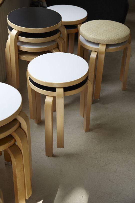 Alvar Aalto Stools by Photographer Leslie Williamson - http://www.lesliewilliamson.com/aalto-studio