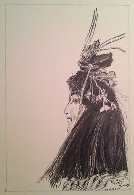 Portrait-Of-Samurai-Youth-From-A-Doll-Graphite-On-Arches-Paper-4-x-6-Potts-NFAC