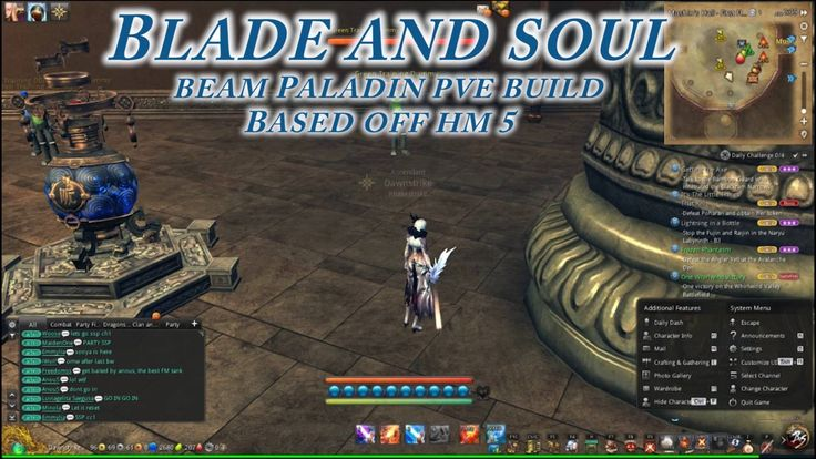 Blade and Soul Forcemaster Beam Paladin Build