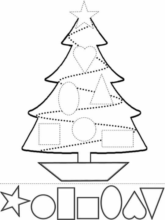 Albero di Natale Disegni di natale da colorare, stampare e ritagliare