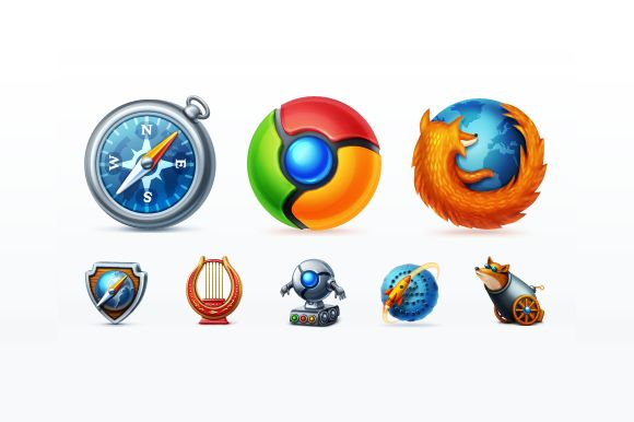 Check out Web Browsers Icon Set by Web Icon Set on Creative Market