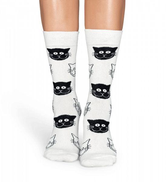Lekker zittende, comfortabele sokken zijn binnen handbereik als je dit paar zwart-witte Cat-sokken te pakken hebt! Het schattige patroon op deze sokken biedt een lief ontwerp dat zowel stijlvol als speels is. Deze unisexsokken zijn gemaakt van hoogwaardig gekamd katoen en omhelzen je voeten zachtjes. Er zijn meerdere maten beschikbaar.