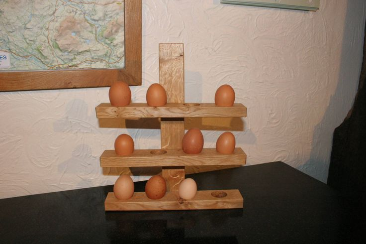 High quality Handmade Oak Egg Stand ,holds 12 eggs by AndrewsRusticTouches on Etsy