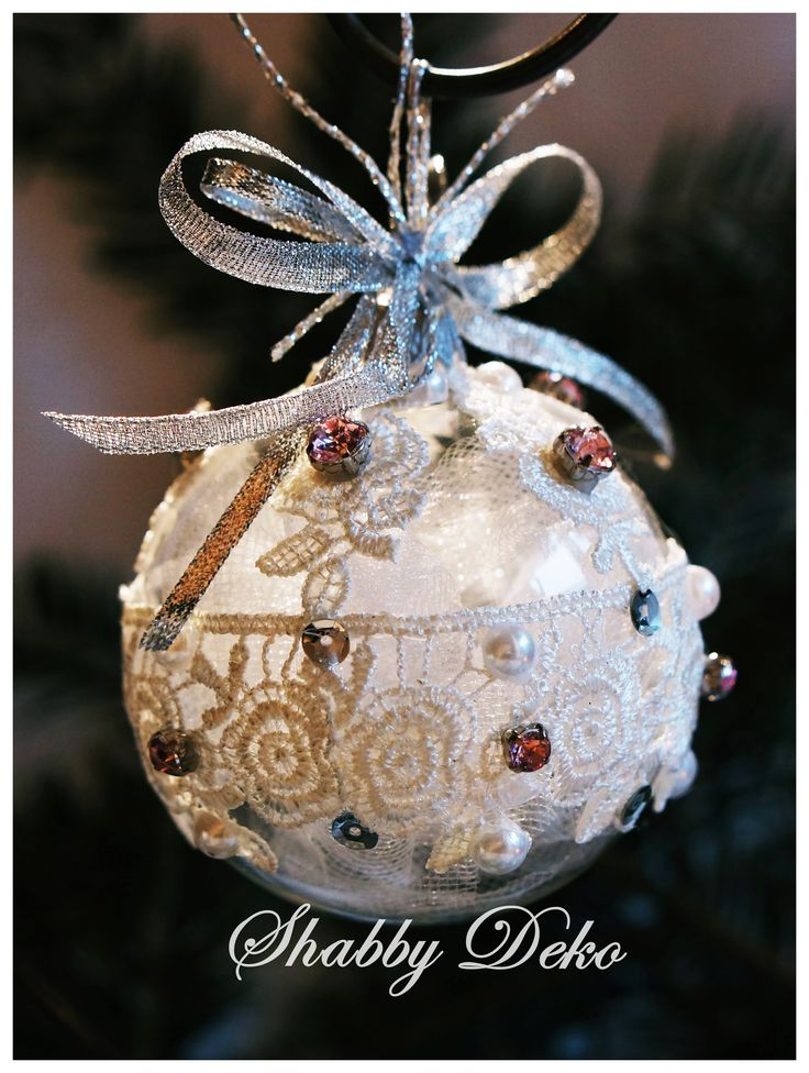 White Lace Christmas Ball
