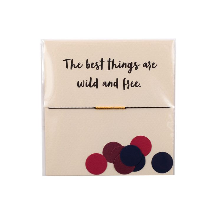 The Reminder Bracelet ~ The Best Things are Wild and Free (Gold) by Mai Lin Jewelry