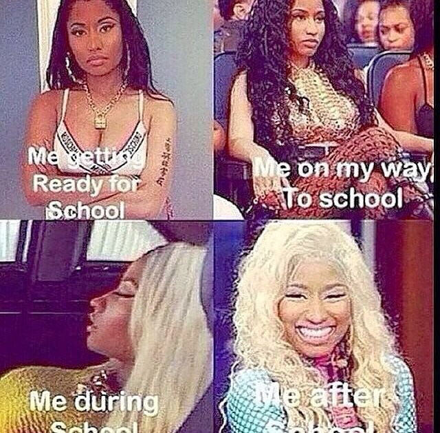 Nicki Minaj resting bitch face