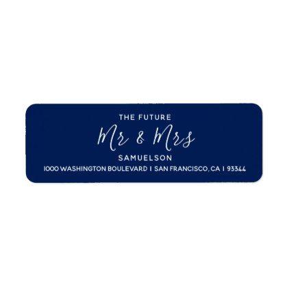 navy blue future mr mrs wedding return address label in 2018