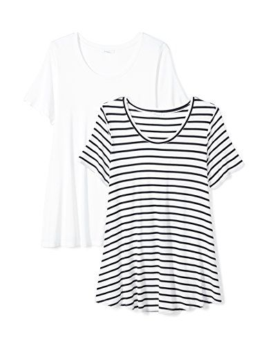 a7ebd0895 Daily Ritual Women's Plus Size Jersey Short-Sleeve Scoop Neck Swing T-Shirt,  - StupidPrices