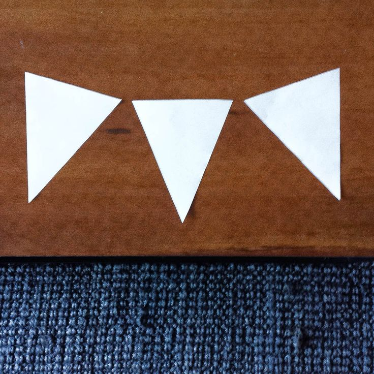 Bunting cut outs ready - use for displaying art in the classroom or home!