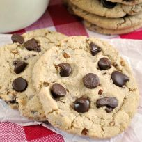 Mrs. Fields Chocolate Chip Cookie Recipe. Made with oat flour in addition to all purpose