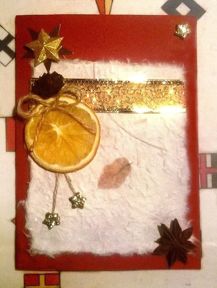 Biglietto natalizio arancia