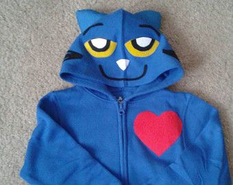 Pete the Cat inspired Costume hoodie. Costume Hoodies for Halloween and year round wear!! Children toddler and baby sizes available ,