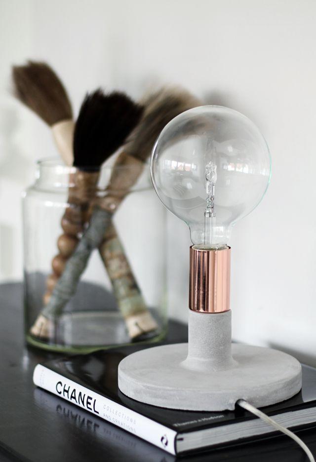 """Ny lampa """"Linda"""" från Watt & Veke i betong & koppar"""