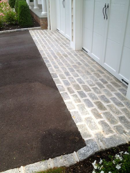 20 best cobblestone design images on pinterest driveway for Driveway apron ideas