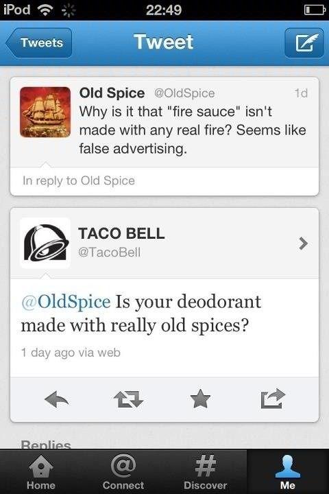 Billion dollar brands teasing each other on  Twitter