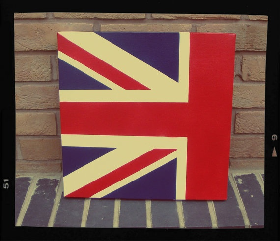 UNION JACK - Contemporary Modern style painting made with stencils and spray paint (Flag). £45.00, via Etsy.