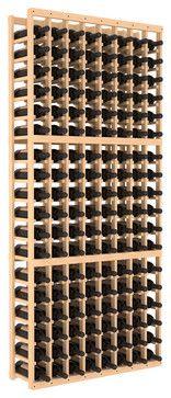 8-Column Standard Wine Cellar Kit in Pine contemporary wine racks