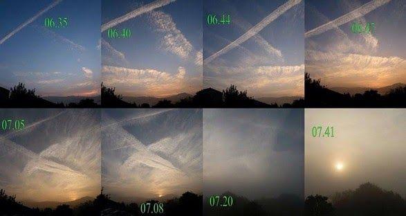 L'impiego di carbonato di calcio (composto igroscopico ) per impedire le precipitazioni è un dato di fatto e, a giudicare dai documenti E....